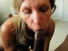 Kinky blonde milf has a black stud punishing her tight ass
