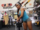 Ebony chick pounded by nasty pawn guy in his pawnshop