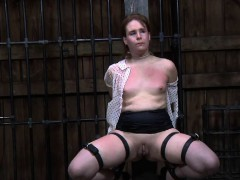 Tormented slave is giving taskmaster a lusty oral-job