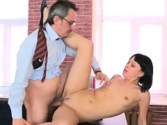 Elegant schoolgirl gets tempted and fucked by her senior ins