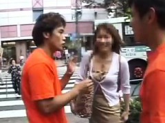 Wild boys picking up sexy babes on the street and banging t
