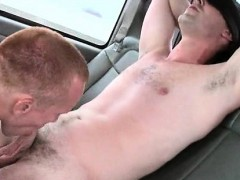 Cute dude gay sucked on boys bus backseat