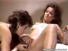 Girls feel orgasm on dildo toys