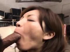 Sexy Asian babe Asahi Miura gets hairy pussy exposed and