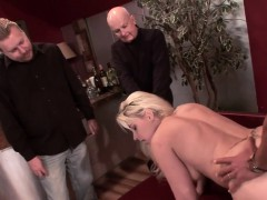 MILF Heidi takes a porn stud's thick cock up her ass as