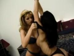 Lucky guy slams two horny teen sluts Anita Dark and Carmen