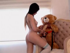 Brunette Teen Toying Her Pussy Outdoor