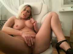 Busty blonde Alexa Weix loves a naughty solo masturbation