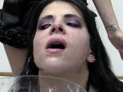 Premium Bukkake - Elya swallows 38 huge mouthful cumshots