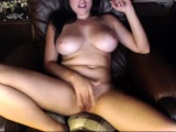 Striptease with big natural boobs babe on webcam