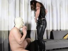 European slave femdom and cum eating