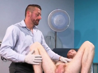 Sexy ginger dude gets banged by a stud