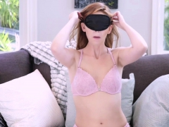 Dirty threesome fuck with uninvited redhead stepsister