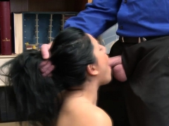 Curvy Monica Sage steal and gets fucked by dudes big cock
