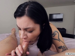 Stepson Jizzed All Over Stepmoms Perfect Ass
