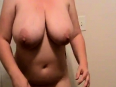bbw Lateshay 36 G floppy natural tits wiggle