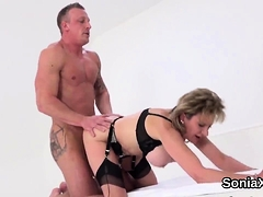 Unfaithful English Mature Gill Ellis Pops Out Her Gigantic M