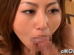 Beguiling Asian Honey Rei Aoki Gets Dick
