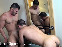 Amateur Studs Fucking Raw After Rimjob