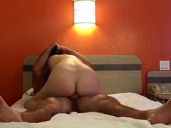 Amateur big butt girl riding
