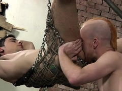 Lewd gay dude enjoys s&m experience and gets screwed hard