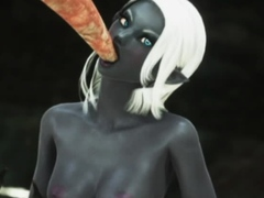 3D Elf Girl Impregnated by Monsters!