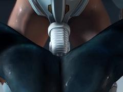 Spacewoman in spacesuit fucks alien on the exoplanet
