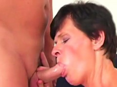 Granny fucking with a strap on