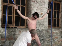 Naked men Sean McKenzie is corded up and at the mercy of tor