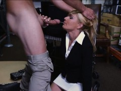 Gorgeous hot milf was convinced to get railed with pawn man