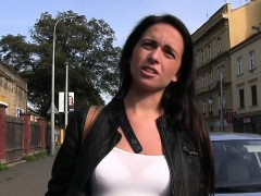 Czech amateur in thong bangs outdoor pov