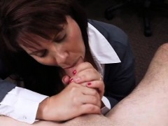 Busty Milf gets payed for hardcore sex at the pawnshop